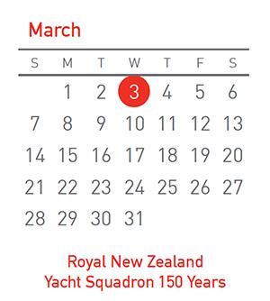 RNZYS 150, 3 March