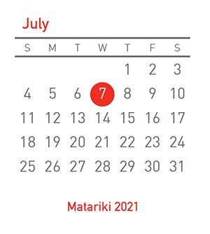 Matariki 2021, 7 July 2021