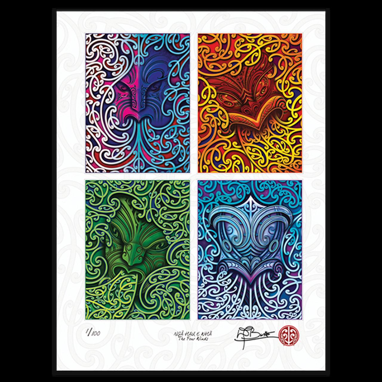 Ngā Hau e Whā - The Four Winds limited edition artist print | NZ Post Collectables