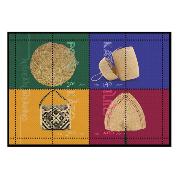 Niue Weaving 2020 gummed miniature sheet | NZ Post Collectables