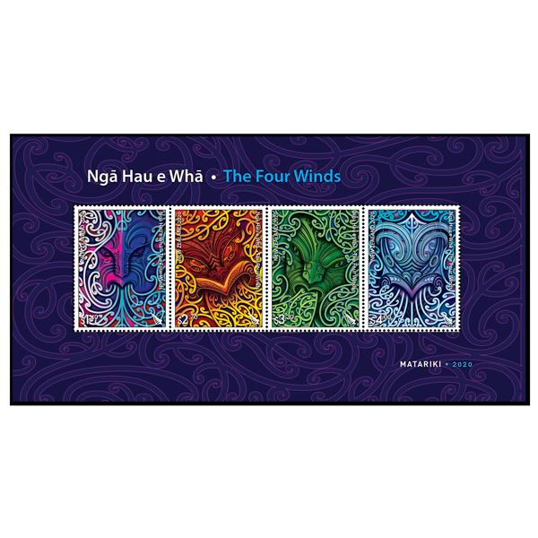 Ngā Hau e Whā - The Four Winds gummed miniature sheet | NZ Post Collectables