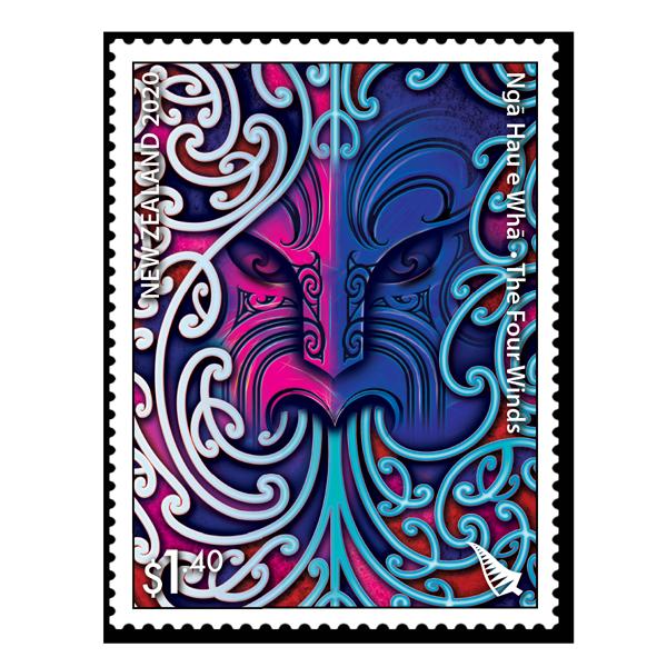 Ngā Hau e Whā - Four Winds single $1.40 gummed stamp | NZ Post Collectables