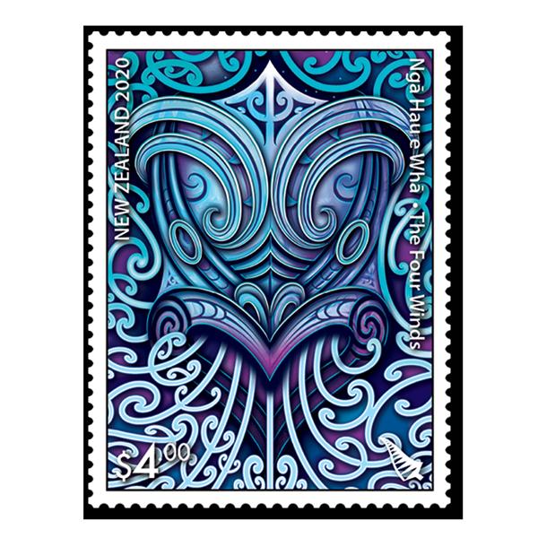 Ngā Hau e Whā - The Four Winds single $4.00 gummed stamp | NZ Post Collectables