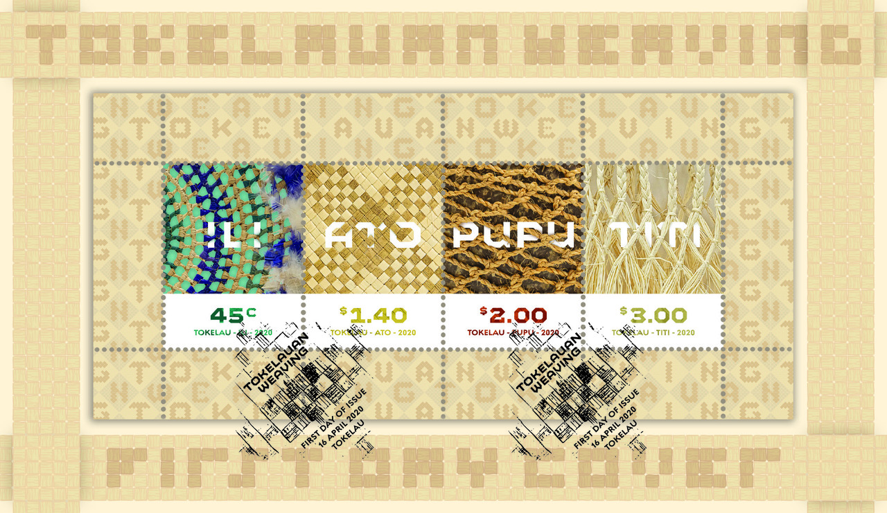 Tokelau Weaving 2020 miniature sheet first day cover   NZ Post Collectables
