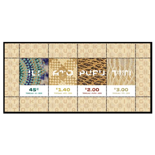 Tokelau Weaving 2020 gummed miniature sheet   NZ Post Collectables