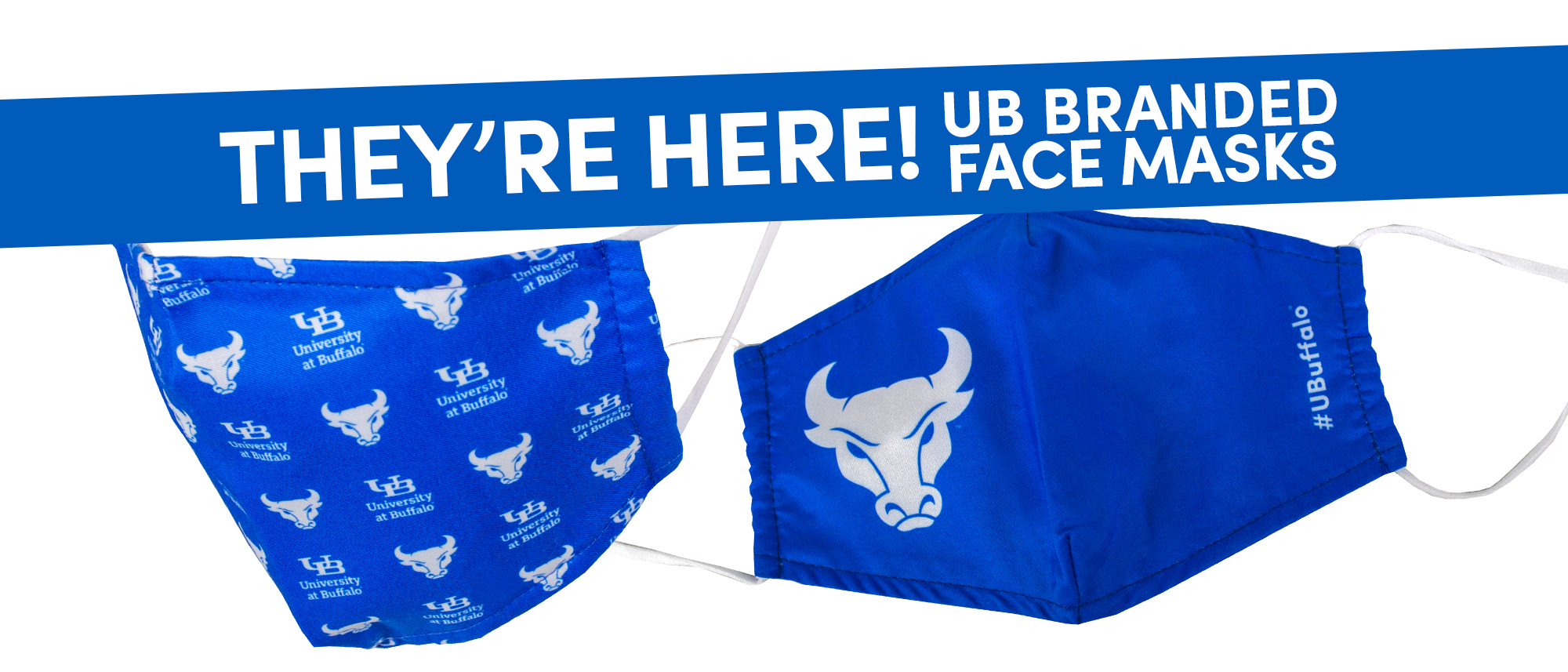 They're Here! UB Branded Face Masks