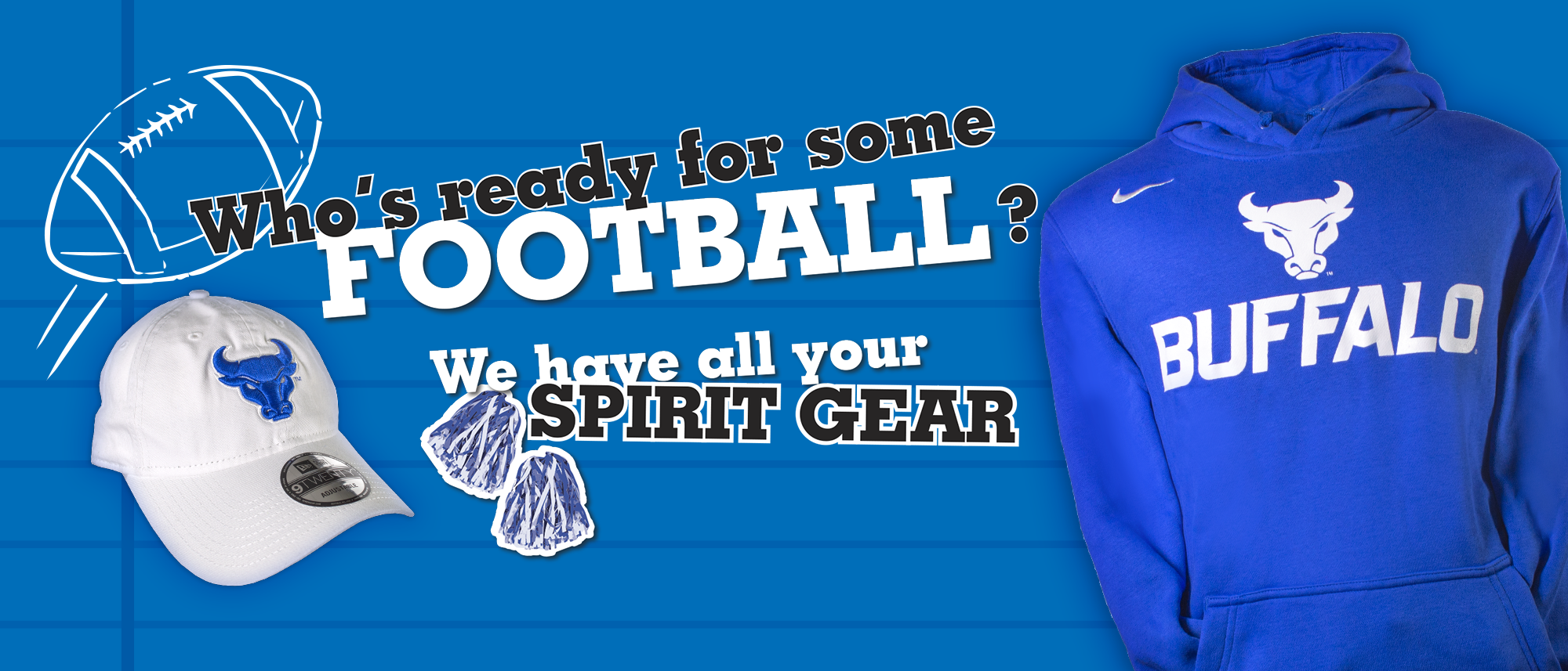 Who's ready for some football? We have all your spirit gear.