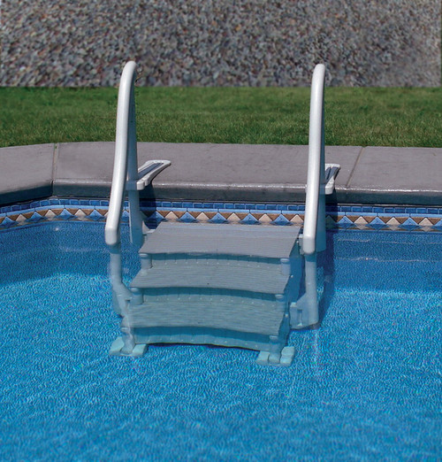 Confer Curve In Pool Step (Deck Mount)