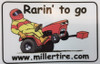 Rarin' To Go Red Decal