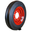 Two 4.00-12 Deestone 3-Rib Front on Red Wheels