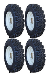 7.50-16 Deestone Traction 4 Tires & 4 Wheels