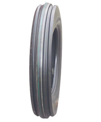 4.00-12 Deestone 3-Rib Front Tractor Tire 4 ply