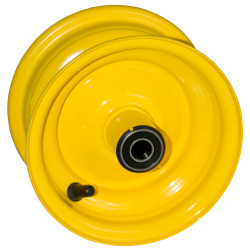 "6x3.25 Yellow Wheel with 5/8"" Bearings"