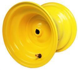 "8x7 Yellow Wheel, 3.5"" hub, 3/4"" Bore"