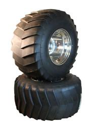 Two 26x12.00-12 LawnTec Pulling Tires on Douglas Wheels