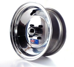 "8x4 Aluminum Wheel, Hub, 1"" Bushing"