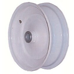 "8x3.75 Steel Wheel, 3"" hub, 3/4"" Bearing"