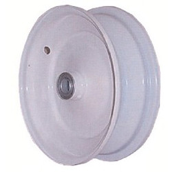 "8x2.5 Steel Wheel, 3"" hub, 3/4"" Bearing"