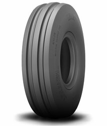 4.00-8 Deestone 3-Rib Front Tractor Tire 4 ply