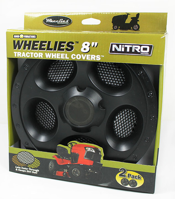 "Wheelies  8"" Black Wheel Covers Free Shipping"