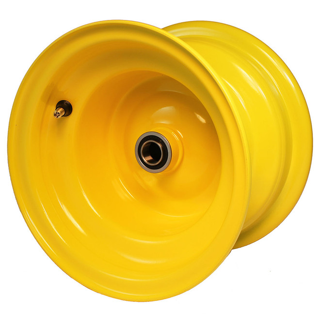 "8x5-3/8 Yellow Wheel, 3"" hub, 3/4"" Bearing"