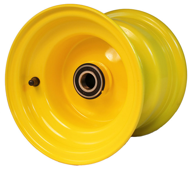 "8x7 Yellow Wheel, 3.5"" hub, 25mm Bearing"