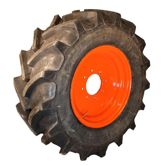 (2) 360/70R20 BKT Tires on Kubota Front Wheels