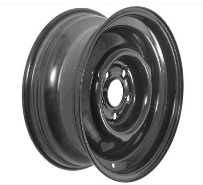 "15x6  5-Hole 4.5"" Bolt Circle Black Wheel"