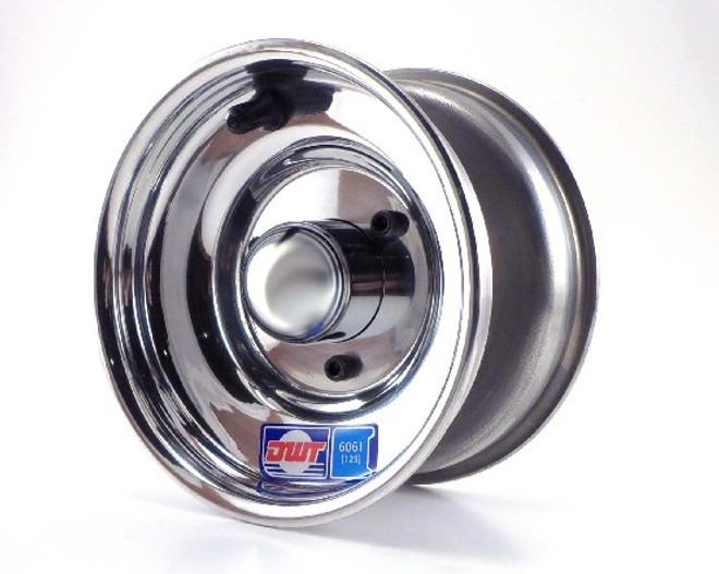 """6x3.25 Aluminum Wheel, Hub, 3/4"""" Bearings"""