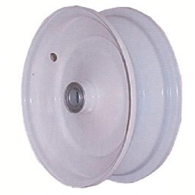 """8x3.75 Steel Wheel, 3"""" hub, 3/4"""" Bearing"""