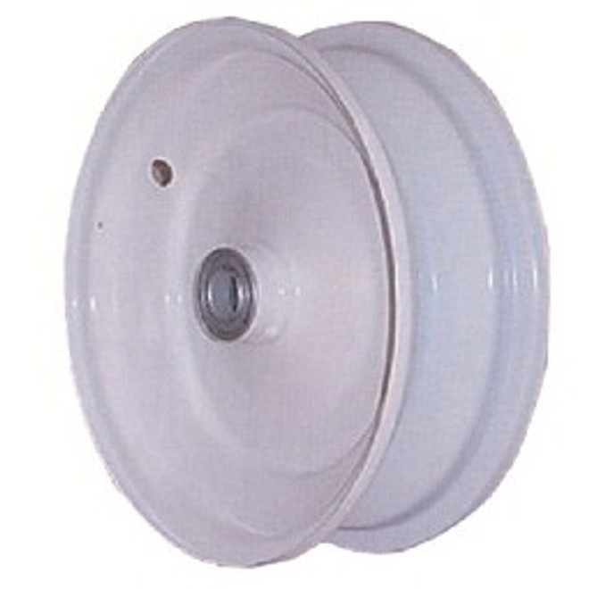 """8x2.5 Steel Wheel, 3"""" hub, 3/4"""" Bearing"""