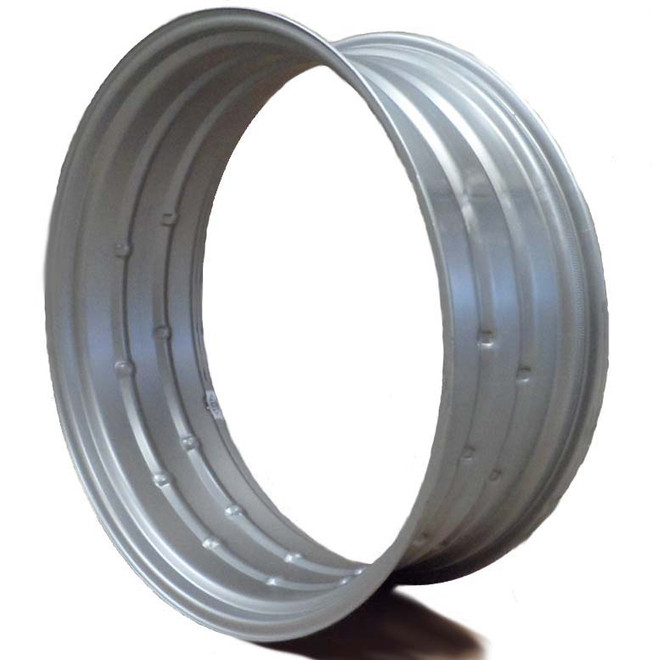 38x10 Double Bevel Rim Silver
