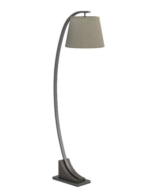Empire Shade Floor Lamp Oatmeal Brown And Orb