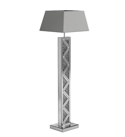 Geometric Base Floor Lamp Silver