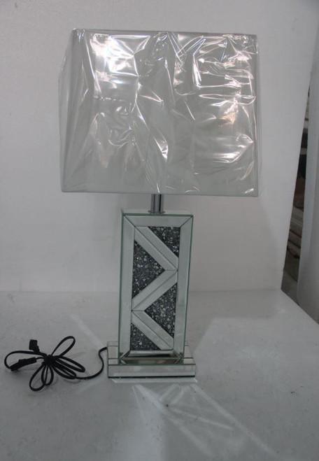 Geometric Base Table Lamp Silver