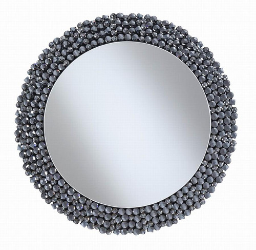 Contemporary Silver Wall Mirror ( 960077 )