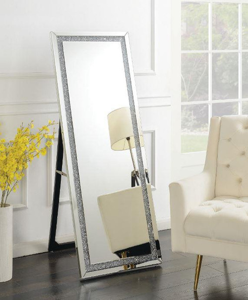 Silver Standing Cheval Mirror ( 961421 )