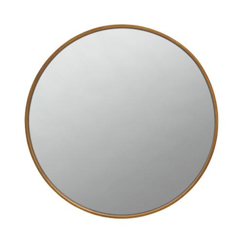 Round Mirror Brass