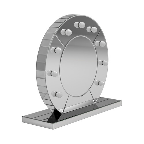 LED Table Mirror Silver