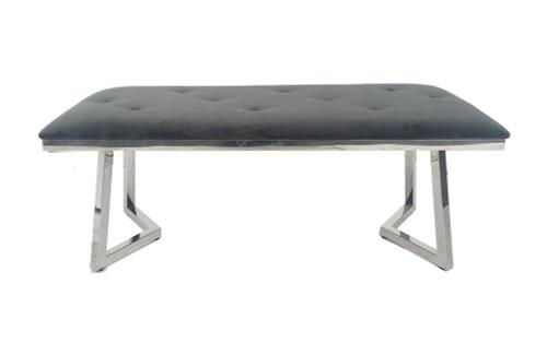 Beaufort Upholstered Tufted Bench Dark Grey