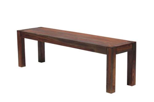 Keats Rectangular Wooden Bench Warm Chestnut