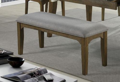 Rayleene Collection - Grey - Rayleene Upholstered Bench Grey And Medium Brown