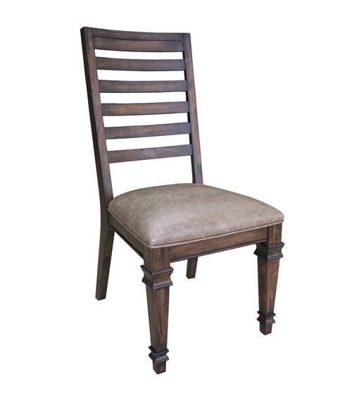 Avenue Collection - Brown Hot Pressed - Delphine Ladder Back Side Chairs Brown (Set of 2)