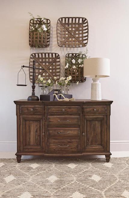 Avenue Collection - Delphine 6-drawer Server Vintage Dark Pine
