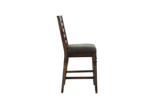 Avenue Collection - Brown Hot Pressed - Delphine Ladder Back Counter Height Chairs Brown (Set of 2)