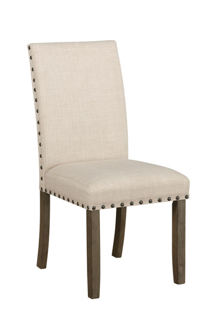 Beige - Coleman Upholstered Side Chairs Beige And Rustic Brown (Set of 2)