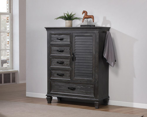Franco Collection - Franco 5-drawer Gentleman's Chest Weathered Sage