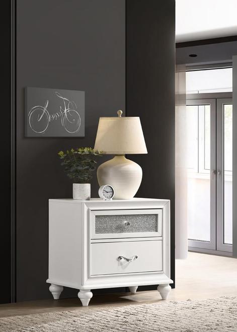 Barzini Collection - Barzini 2-drawer Nightstand White