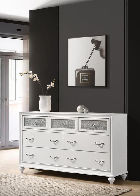 Barzini Collection - Barzini 7-drawer Dresser White