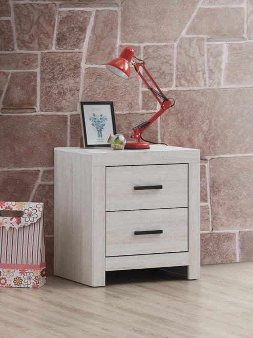 Brantford Collection - Marion 2-drawer Nightstand Coastal White